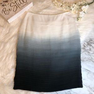 NWT Lafayette 148 Silk Skirt Ombré Tiered, Size 2
